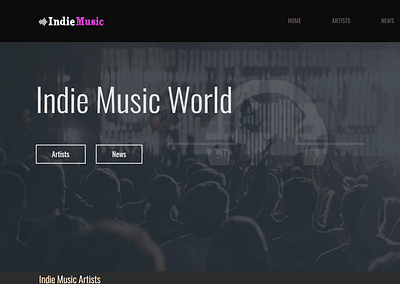 Diseño Web Música Indie Music Artists
